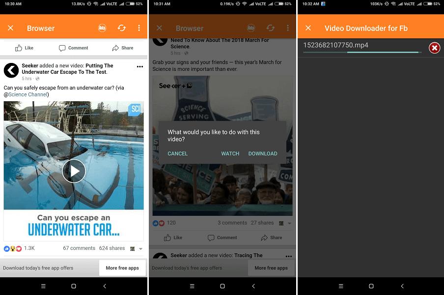 أفضل 5 تطبيقات لتحميل فيديوهات فيسبوك اندرويد وايفون 9