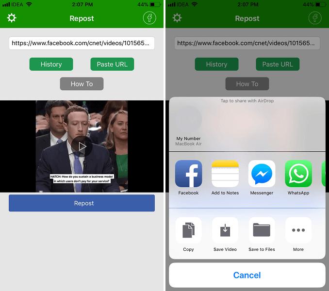 أفضل 5 تطبيقات لتحميل فيديوهات فيسبوك اندرويد وايفون 3