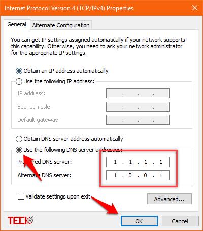كيفية إستخدام Cloudflare 1.1.1.1 DNS 3