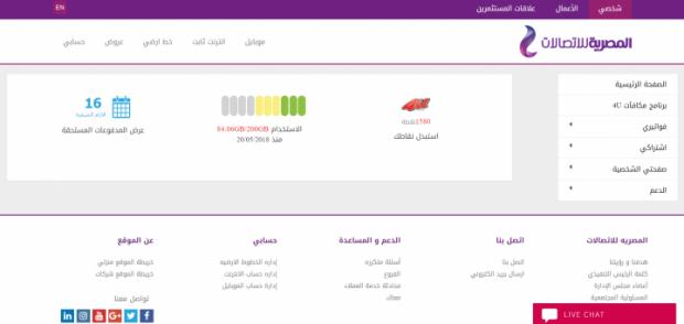 كيفية متابعة باقة الإنترنت الشهرية الخاصة بشركة WE أو TeData 4
