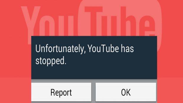 حل مشكلة توقف اليوتيوب في الأندرويد Unfortunately YouTube has stopped