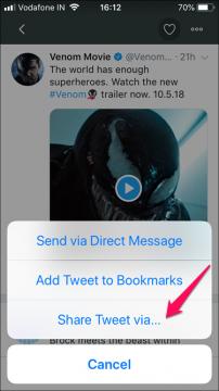 شرح كيفية تحميل الفيديوهات من تويتر لهواتف الأيفون 2