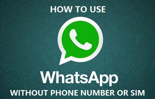 شرح طريقة فتح الواتس اب بدون رقم هاتف 1