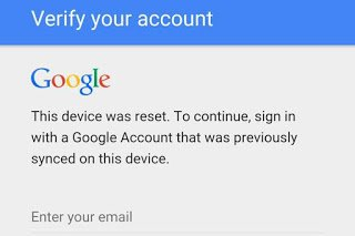تخطي حماية جوجل بعد الفورمات