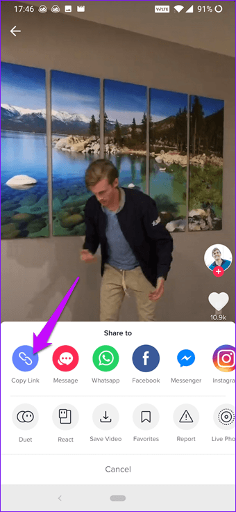 كيفية تحميل الفيديوهات من تيك توك على الأندرويد 4