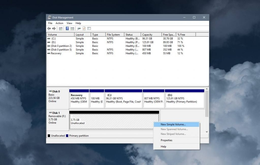 حل مشكلة Please insert a disk into NEW VOLUME في ويندوز 10 2