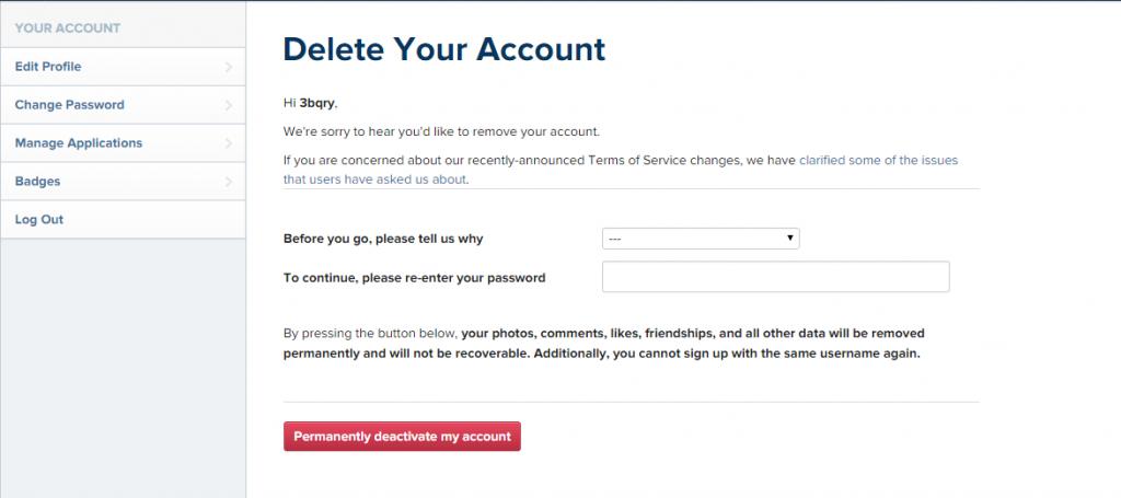 كيفية حذف حساب انستقرام نهائيا من الهاتف