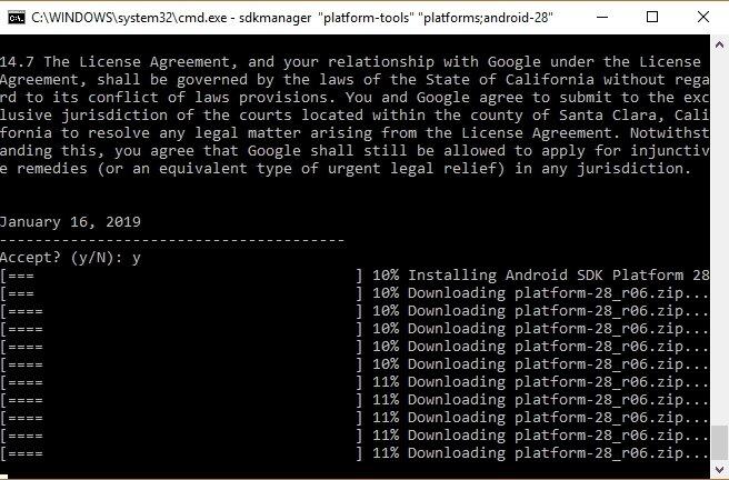 خطوات تثبيت android sdk على ويندوز 10
