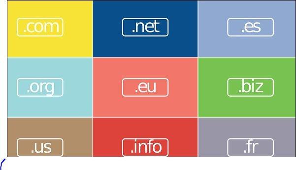 ما هو الفرق بين النطاقات com / .net / .org / .info 1
