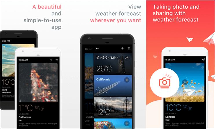 أفضل التطبيقات لمعرفة الاحوال الجوية