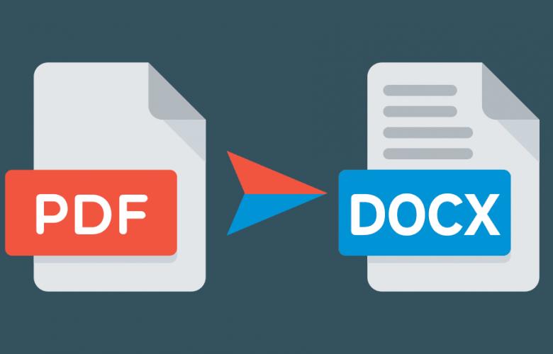 تحويل ملف PDF إلى ملف DOCX والتعديل عليه