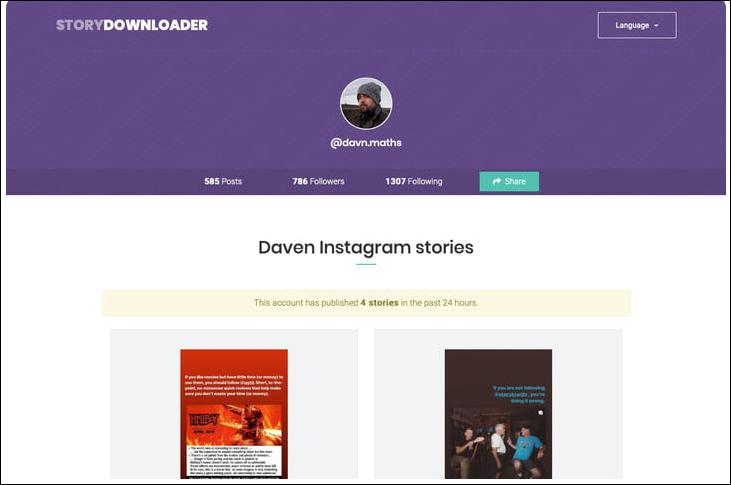 طريقة تنزيل Instagram Stories علي هواتف الاندرويد والأيفون وأيضا الكمبيوتر 2