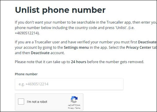 طريقة حذف رقمك من Truecaller بعد حذف البرنامج على هواتف أندرويد وأيفون
