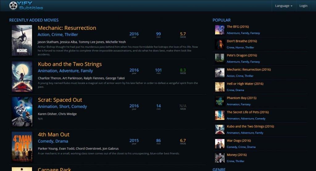 أفضل مواقع تحميل ترجمة الأفلام مجانا 2
