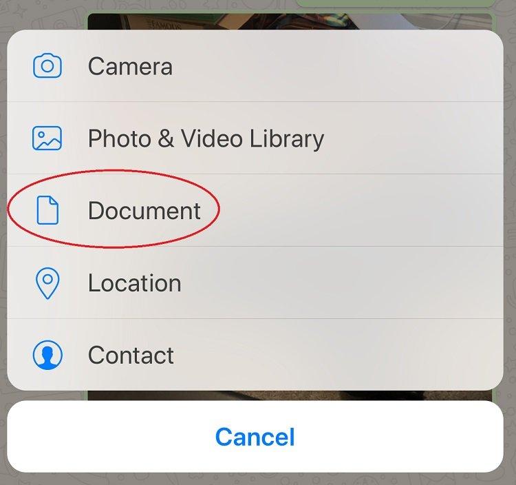 طريقة ارسال الصور بواتساب بجودتها الكامله