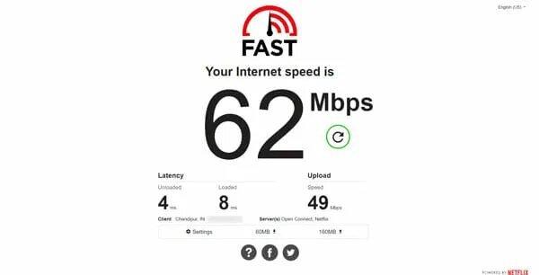 أفضل المواقع لقياس واختبار سرعة الإنترنت 2