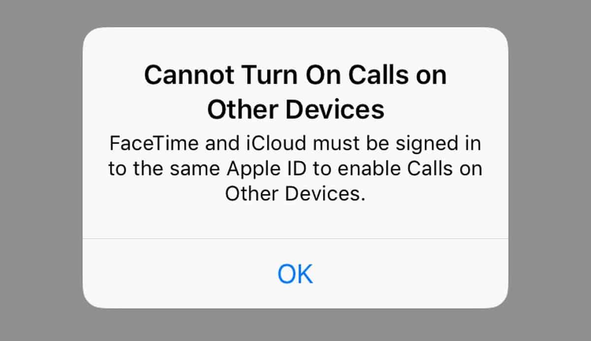حل مشكلة Cannot Turn On Calls on Other Devices فى الايفون والايباد 1