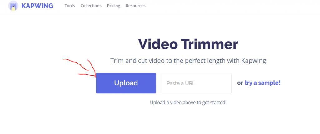 كيفية قص مقطع فيديو اون لاين بدون استخدام برنامج 1