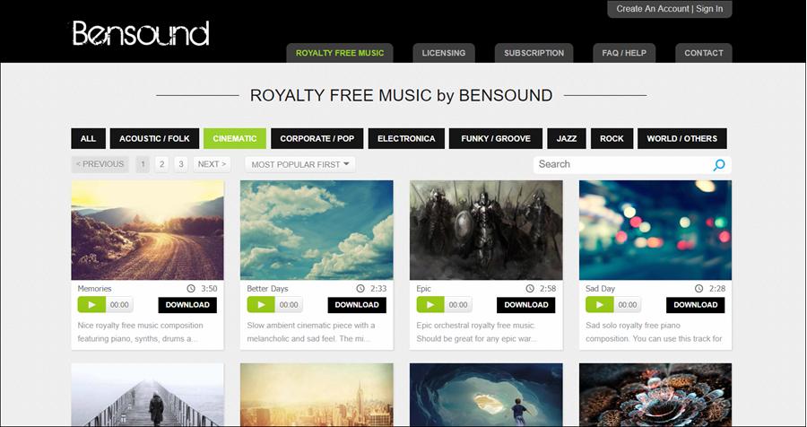 موقع Bensound