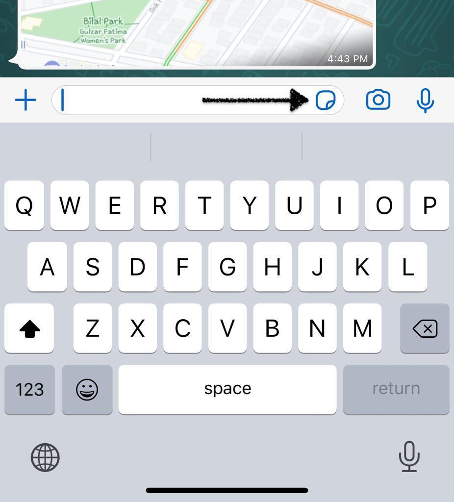 إرسال صور متحركة على واتساب