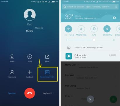 كيفية تسجيل المكالمات على هواتف شاومي 2
