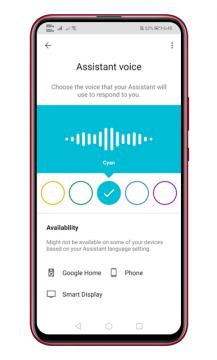 كيفية تغيير صوت مساعد جوجل على الاندرويد 8
