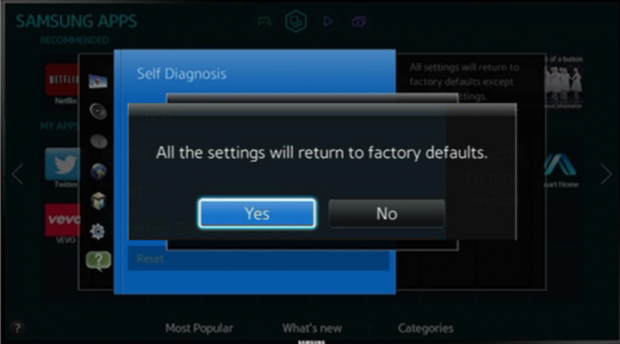 كيفية إعادة ضبط المصنع لتلفزيون سامسونج الذكي Samsung Smart TV 7