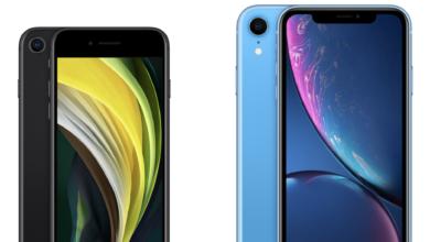 مقارنه بين هاتف iPhone SE 2020 و هاتف iPhone XR 6