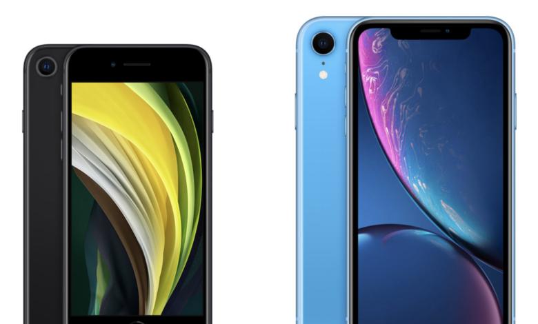 مقارنه بين هاتف iPhone SE 2020 و هاتف iPhone XR 1
