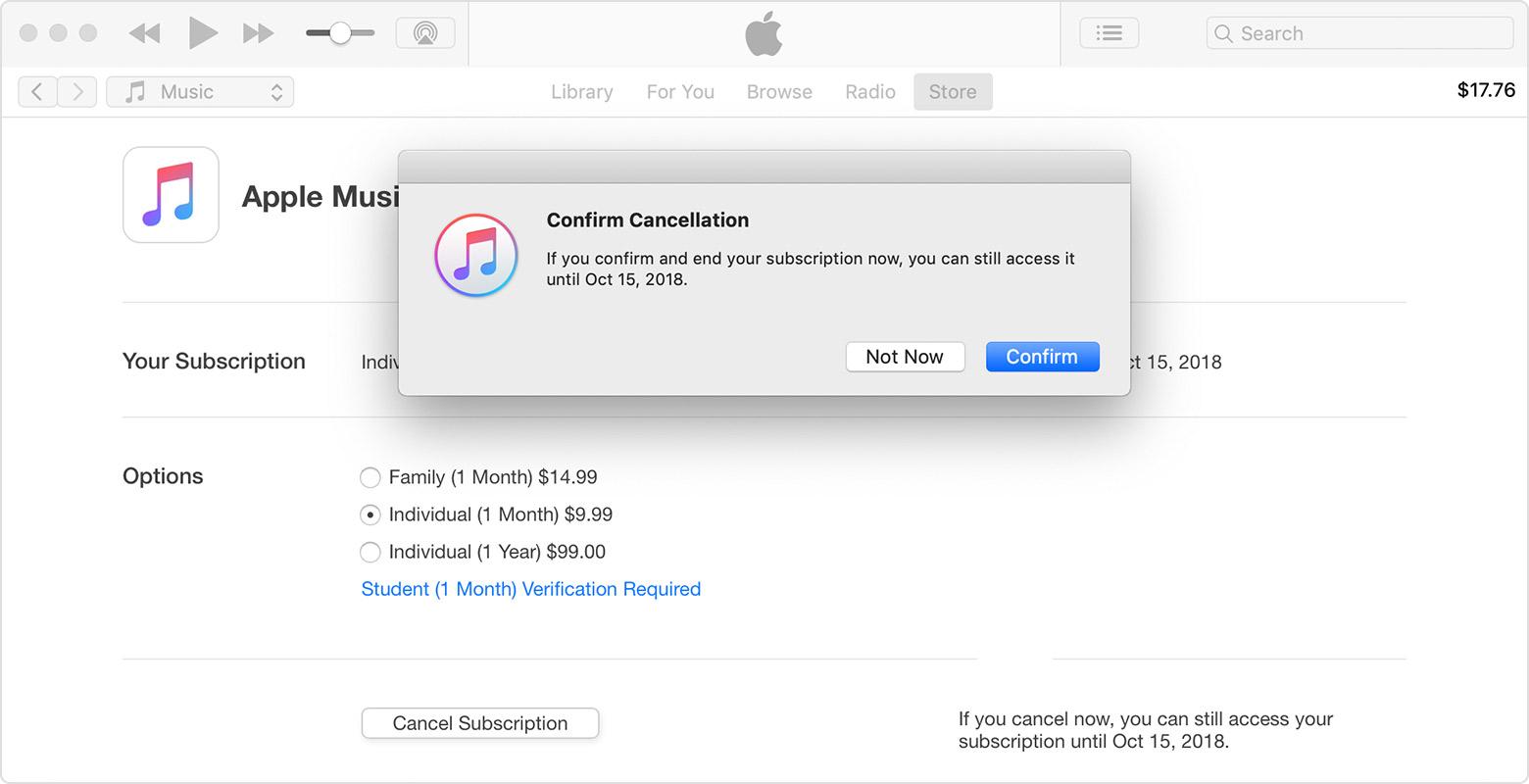 الغاء اشتراك تطبيق Apple Music