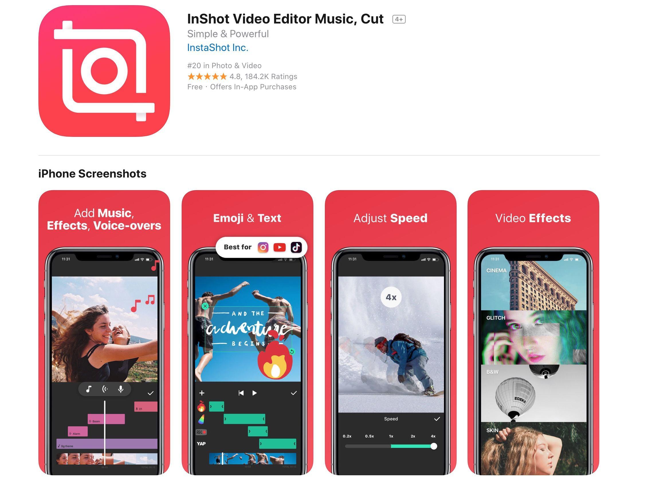 أفضل التطبيقات لدمج مقاطع الفيديو على ايفون و ايباد 4
