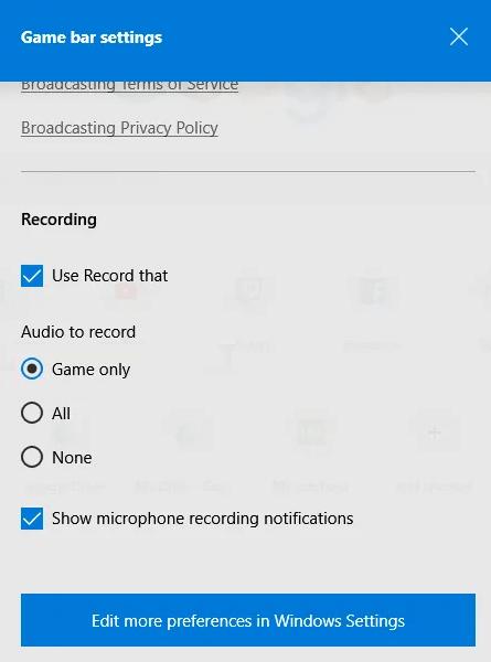 طريقة تسجيل الشاشة في ويندوز 10 3