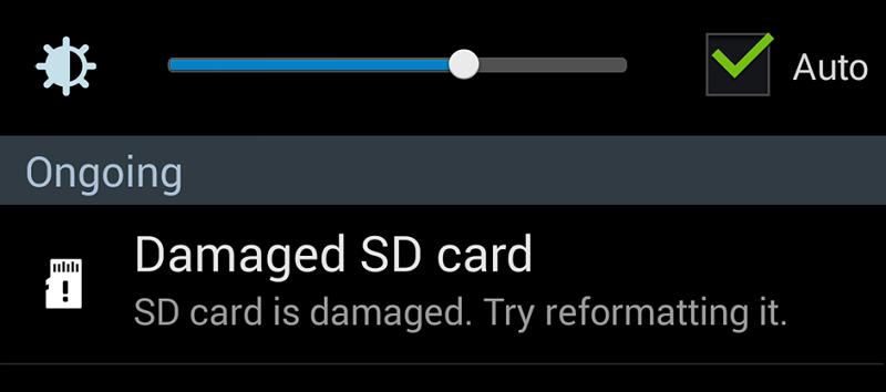 كيفية اصلاح بطاقة الذاكرة التالفة Damaged SD Card 1