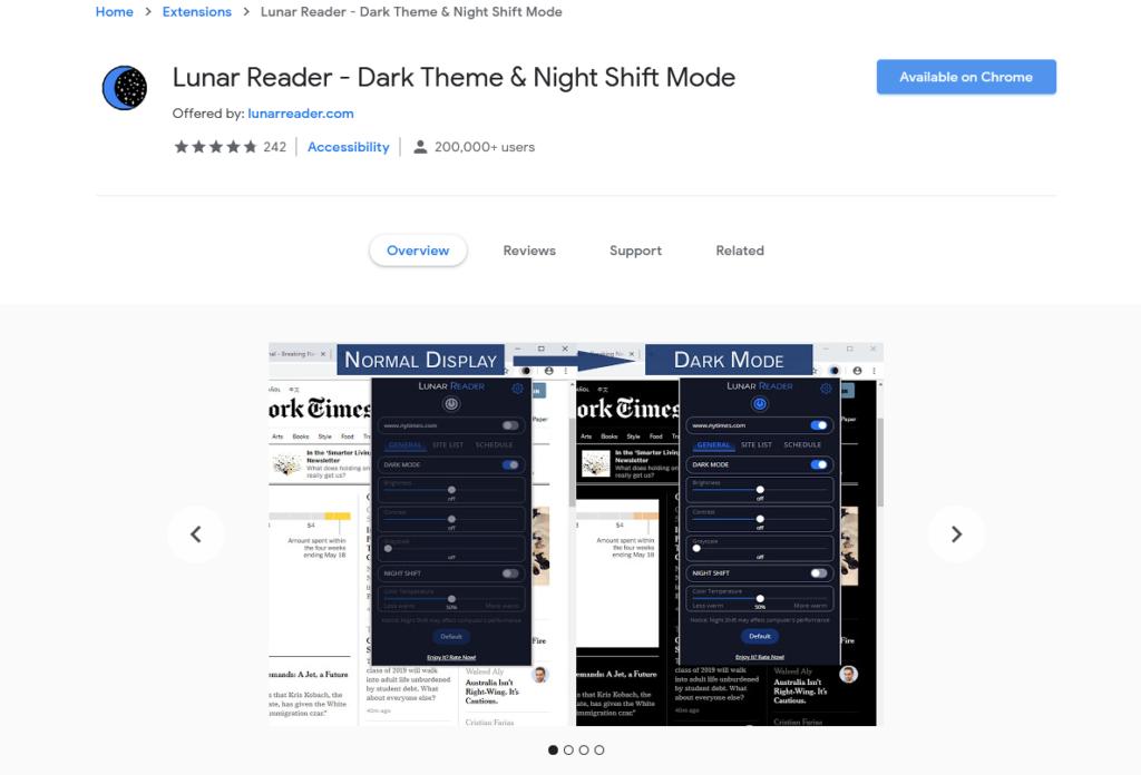 افضل اضافات جوجل كروم لتفعيل الوضع الليلي 2020 1