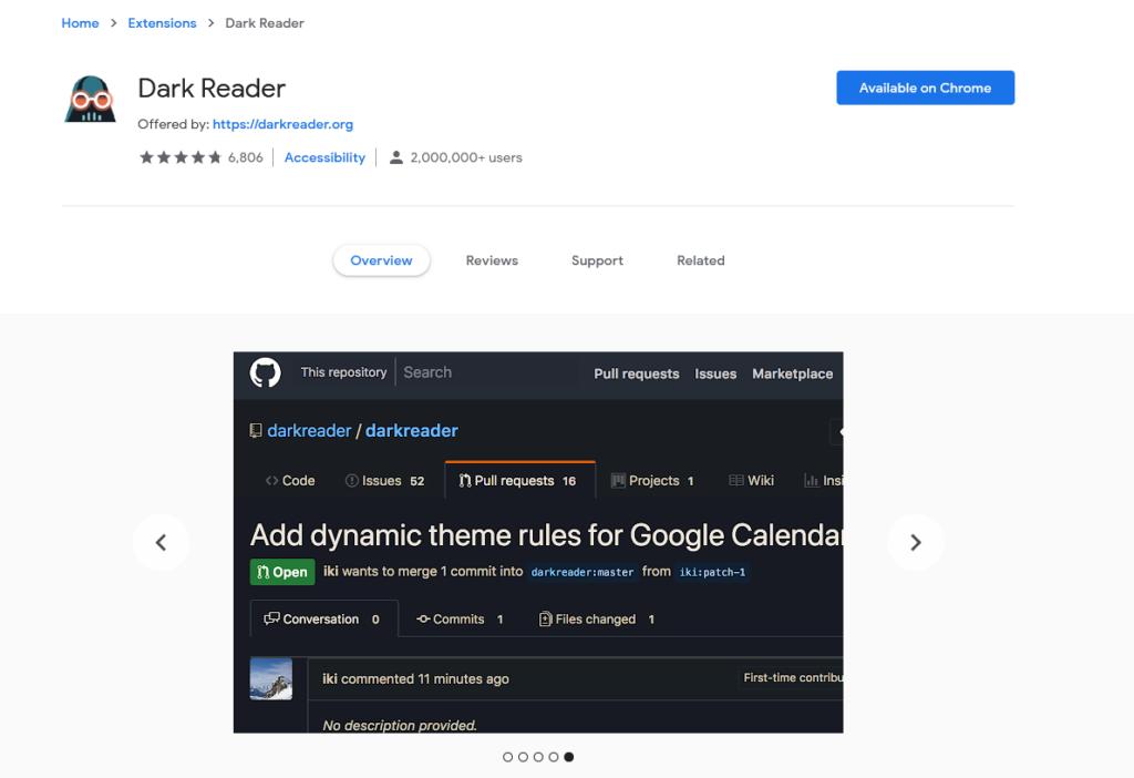 افضل اضافات جوجل كروم لتفعيل الوضع الليلي 2020 2
