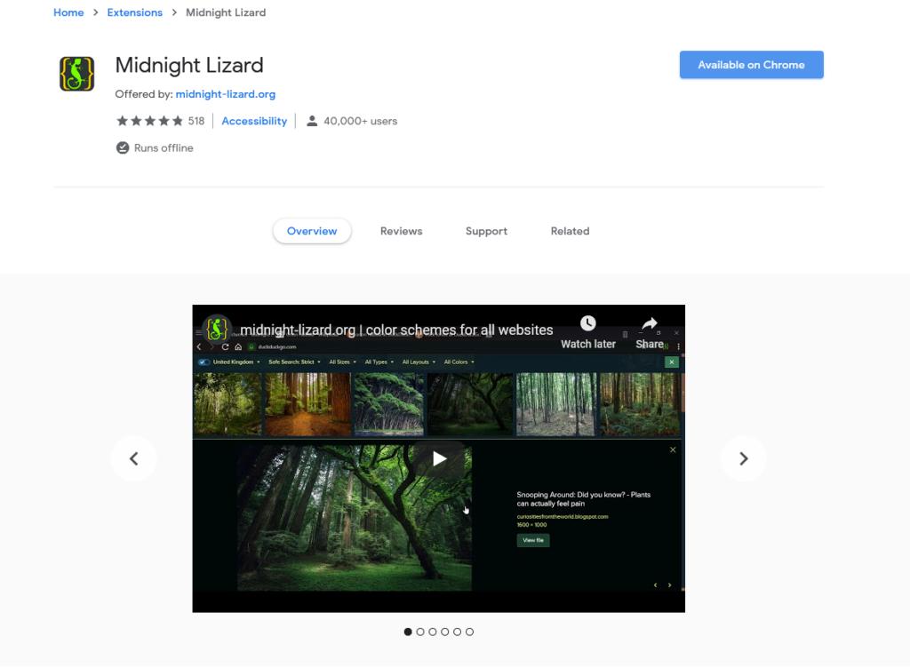 افضل اضافات جوجل كروم لتفعيل الوضع الليلي 2020 3