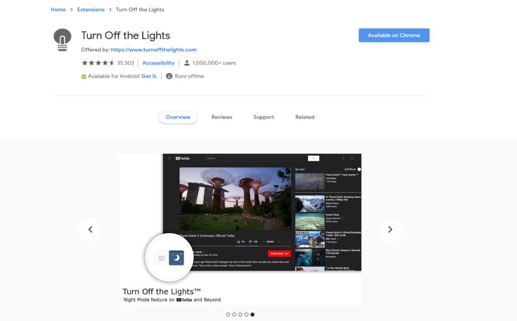 افضل اضافات جوجل كروم لتفعيل الوضع الليلي 2020 4