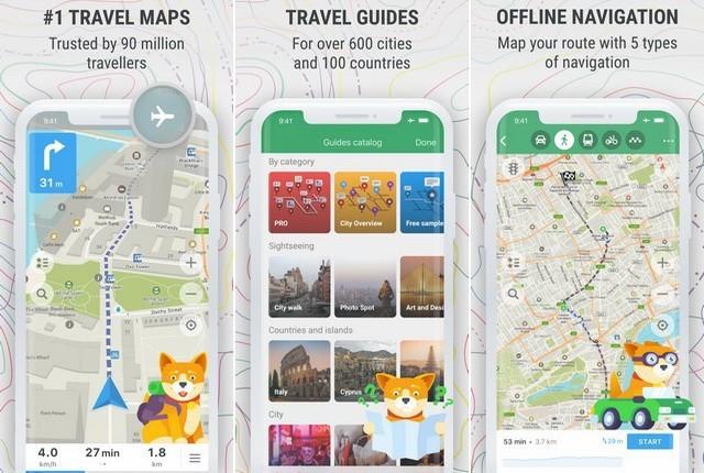 افضل تطبيقات الخرائط GPS لاجهزة ايفون 2020 2