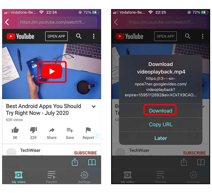 تحميل فيديوهات اليوتيوب على الايفون من خلال أفضل 3 طرق 2