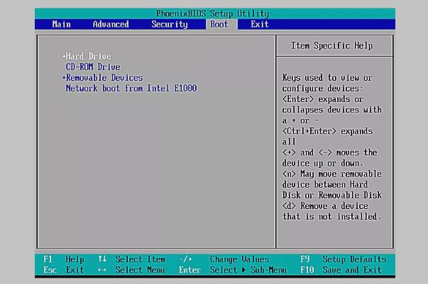 ضبط الاقلاع من اعدادات البيوس BIOS BOOT 4