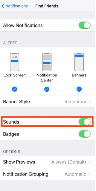 كيفية تغيير صوت الإشعارات في الايفون