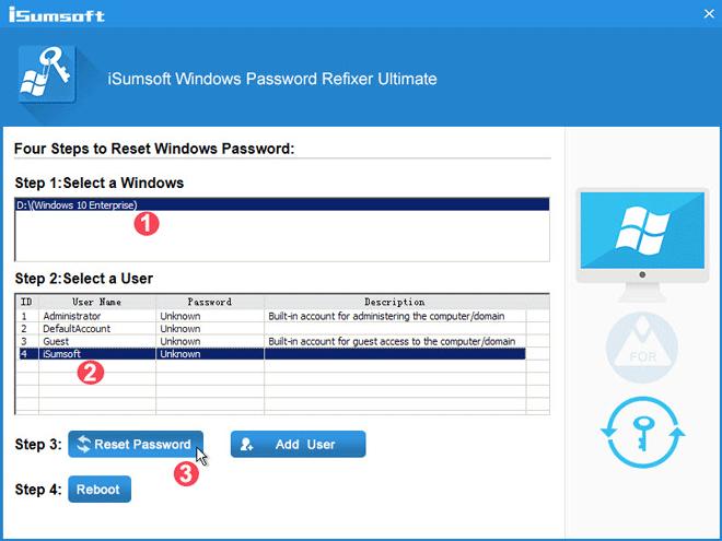 كيفية اعادة تعيين كلمة مرور windows 10 من فلاشة USB