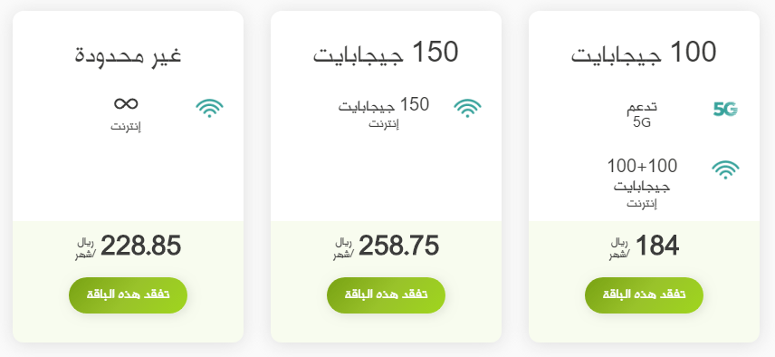 باقات الانترنت شركة زين السعودية 2021