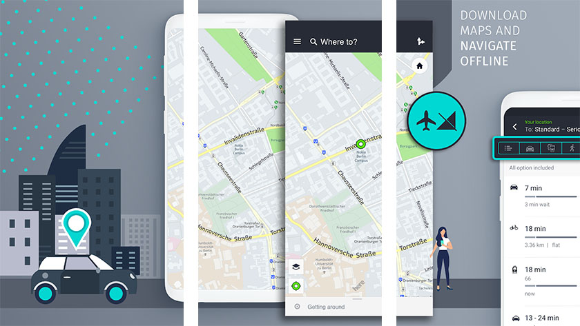 تطبيق HERE WeGo Maps