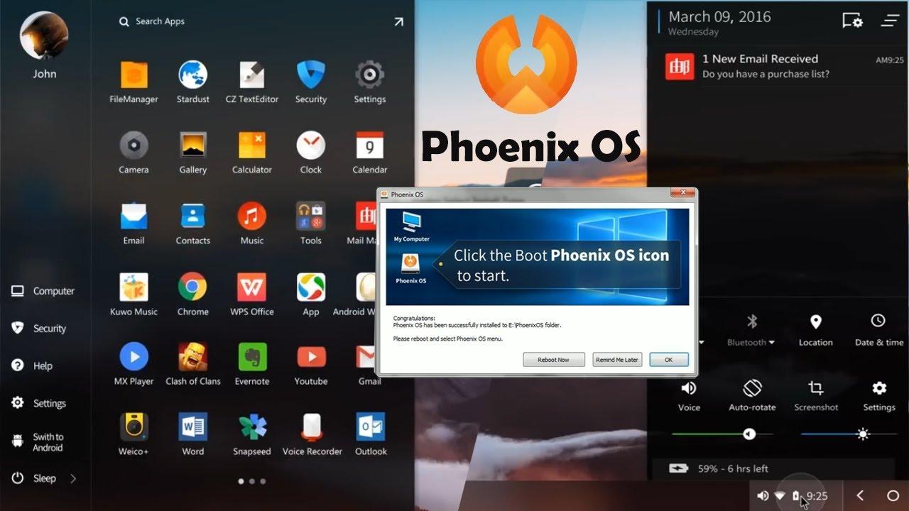 تحميل نظام Phoenix OS لتشغيل الأندرويد على الكمبيوتر بدون محاكي 1