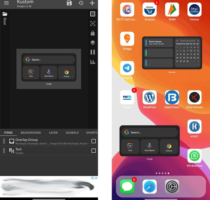 كيفية تحويل شكل الاندرويد الى ايفون iOS 14