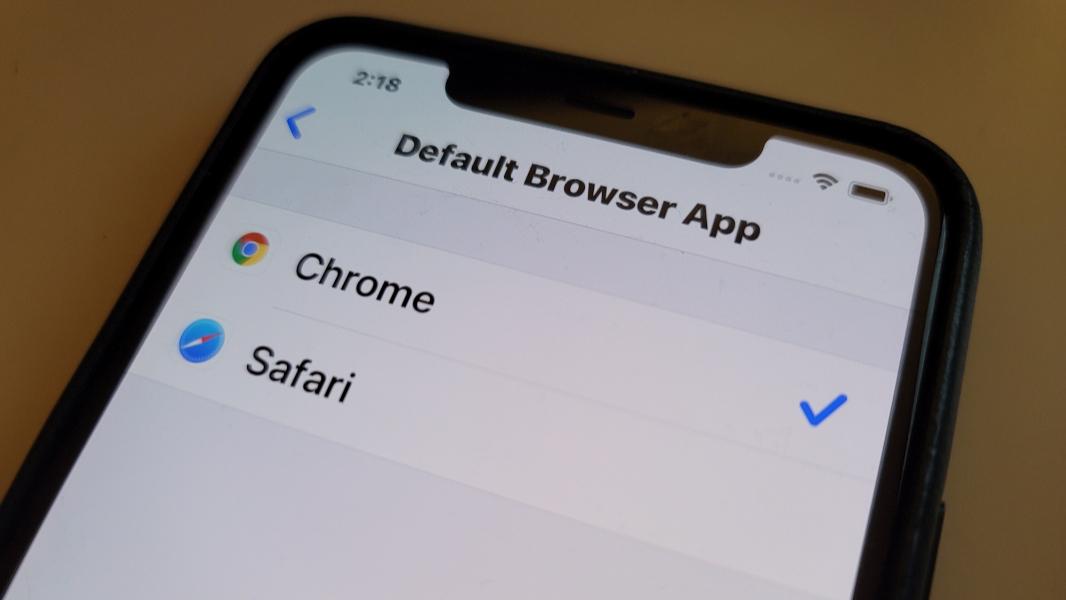 كيفية تغيير المتصفح الافتراضي للايفون
