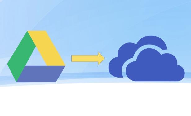 كيفية نقل الملفات و المجلدات من جوجل درايف الى وان درايف