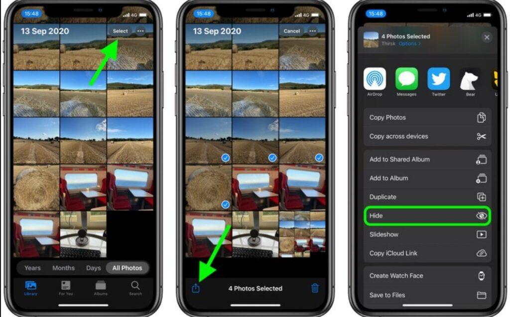 كيفية اخفاء الصور و الملفات على الايفون و الايباد
