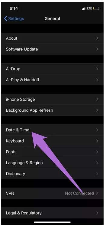 مشكلة تعذر الاتصال بـ App Store للايفون